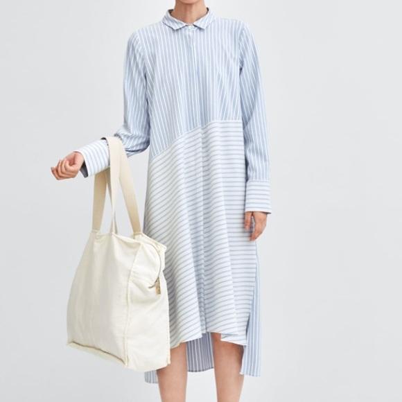 Zara Dresses & Skirts - Sold - Zara shirt maxi dress size S